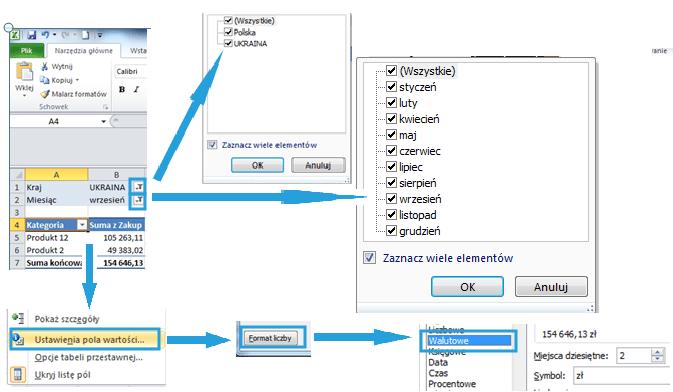 Tworzenie raportu tabeli przestawnej wexcelu11