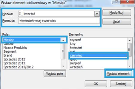 Tworzenie raportu tabeli przestawnej wexcelu2_10