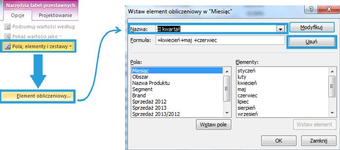 Tworzenie raportu tabeli przestawnej wexcelu2_13