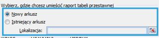 Tworzenie raportu tabeli przestawnej wexcelu5