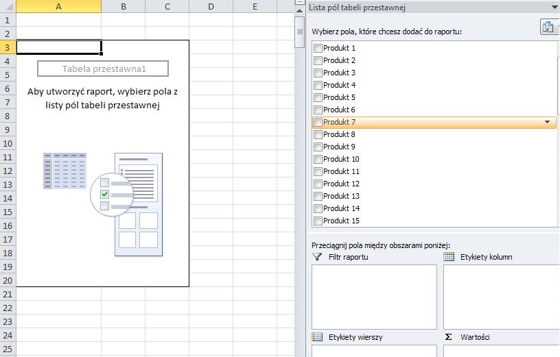 Grupowanie tabela przestawna 2
