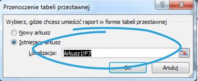 Tworzenie raportu tabeli przestawnej wExcelu 4_11