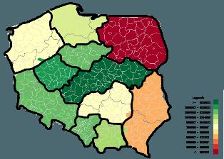 Mapa Polski Excel – Jak zwizualizować dane namapie zzastosowaniem podziału geograficznego 11
