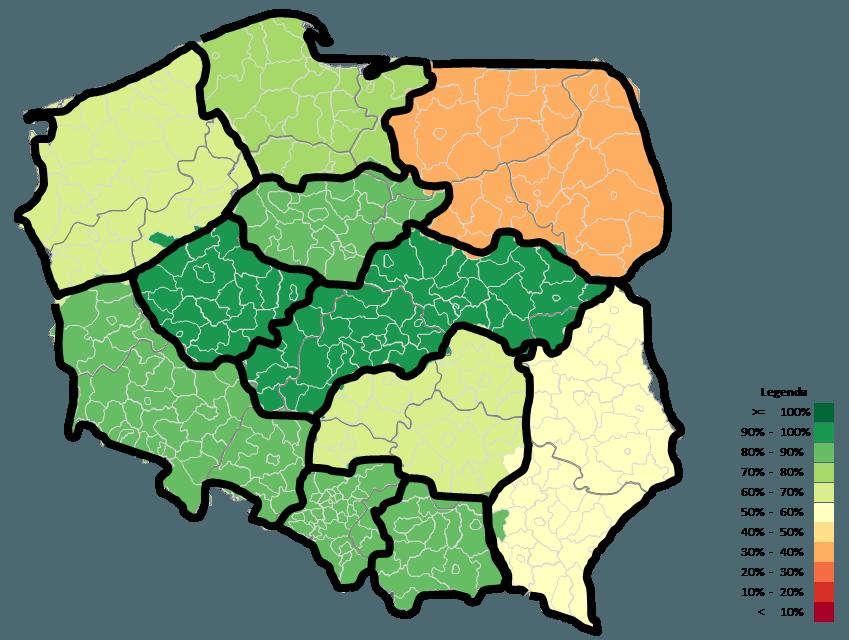 Mapa Polski Excel – Jak zwizualizować dane namapie zzastosowaniem podziału geograficznego 4