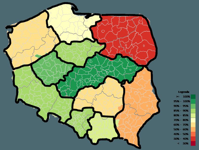 Mapa Polski Excel – Jak zwizualizować dane namapie zzastosowaniem podziału geograficznego 5