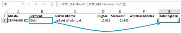 Mapa Polski Excel - Jak podzielić punkty pogeokodowaniu nakategorie ioznaczyć je innym kolorem 2