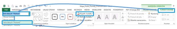 Mapa Polski Excel - Jak podzielić punkty pogeokodowaniu nakategorie ioznaczyć je innym kolorem 4