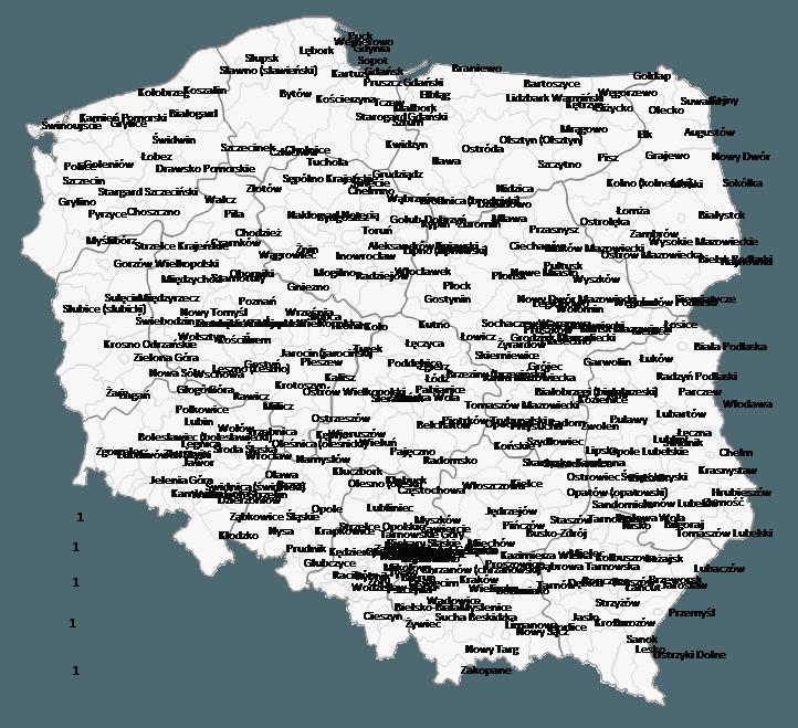 Mapa Polski Excel - Jak pokazać namapie nazwy obszarów administracyjnych (powiaty, gminy) 3