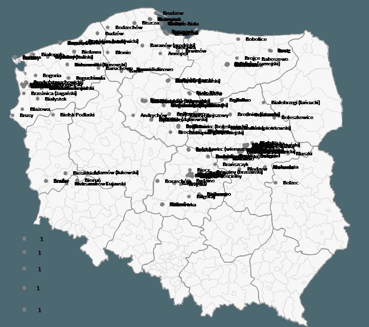 Mapa Polski Excel - Jak przedstawić namapie bazę adresów pogeokodowaniu 3