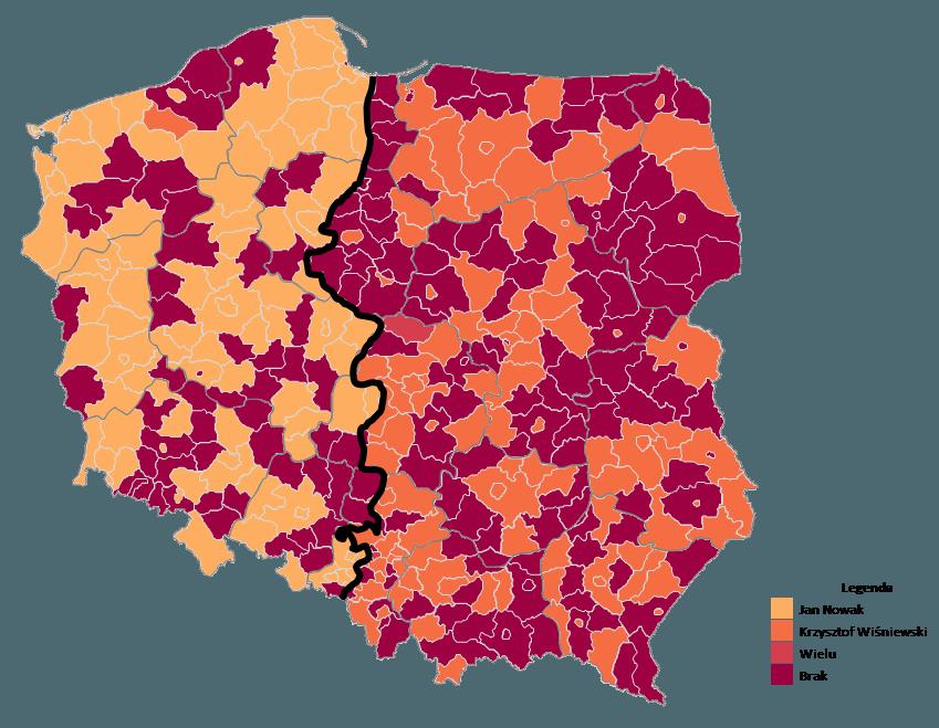 Mapa Polski Excel - Jak zbudować podział geograficzny zwykorzystaniem kodów pocztowych 11