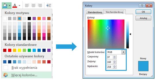 Mapa Polski Excel - Jak zmienić kolory na mapie 1