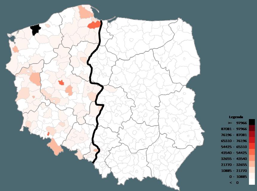 Mapa Polski Excel - Jak zwizualizować dane wpodziale administracyjnym nabazie kodów pocztowych 5