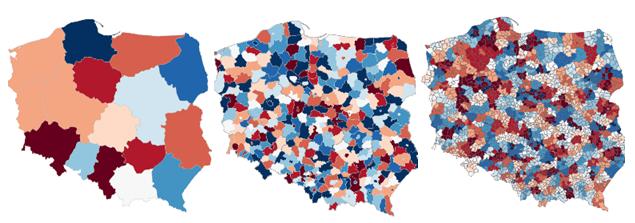 Mapa Polski Excel Województwa Powiaty Gminy