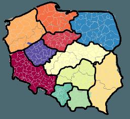 Mapa Polski Excel - tworzenie podziału geograficznego 11
