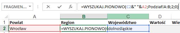 Mapa Polski Excel - tworzenie podziału geograficznego 3