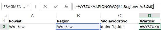 Mapa Polski Excel - tworzenie podziału geograficznego 6