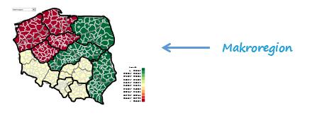 Mapa Polski Excel – Jak pokazać namapie dynamiczne etykiety znazwami iliczbami 1