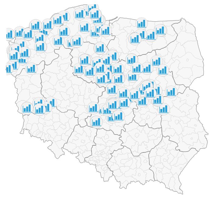 Mapa Polski Excel – Jak umieścić własny znak graficzny (np.logo) namapie 5