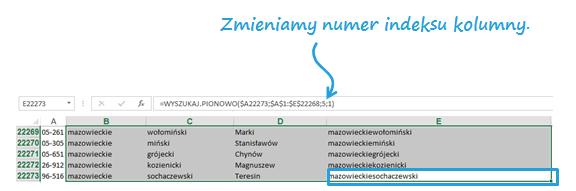 Mapa Polski Excel – Jak uzupełnić nieznalezione kody pocztowe 13