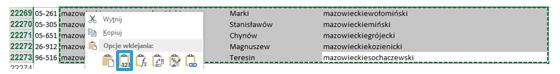 Mapa Polski Excel – Jak uzupełnić nieznalezione kody pocztowe 14
