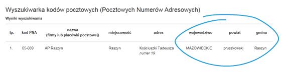 Mapa Polski Excel – Jak uzupełnić nieznalezione kody pocztowe 5