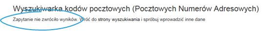 Mapa Polski Excel – Jak uzupełnić nieznalezione kody pocztowe 7