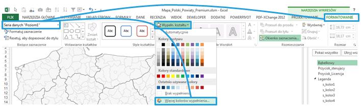 Mapa Polski Excel - Jak narysować zasięg nawykresie bąbelkowym 7
