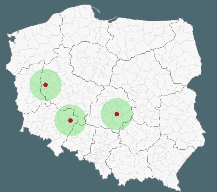 Mapa Polski Excel - Jak narysować zasięg nawykresie bąbelkowym 9