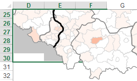 Mapa Polski Excel - Jak pokazać wpowiększeniu obszar administracyjny Śląska 1
