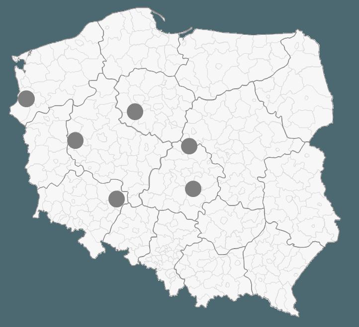 Mapa Polski Excel - Jak zaznaczyć na mapie kolejność odwiedzania punktów lub obszar 2