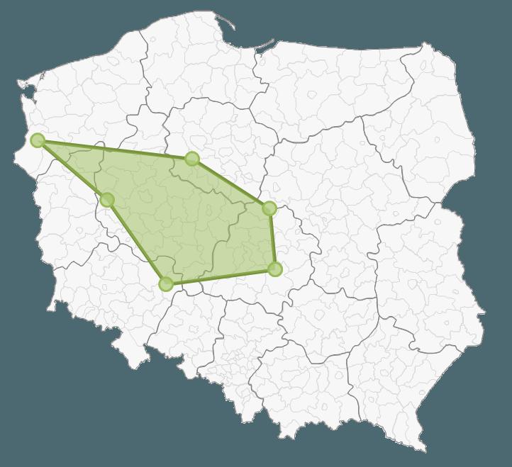 Mapa Polski Excel - Jak zaznaczyć na mapie kolejność odwiedzania punktów lub obszar 8