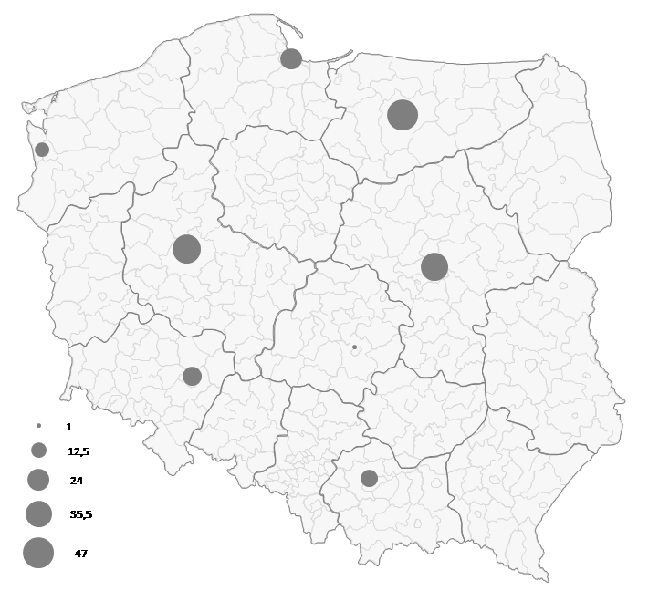 Mapa Polski Excel - Jak zwizualizować namapie przepływ towarów 2