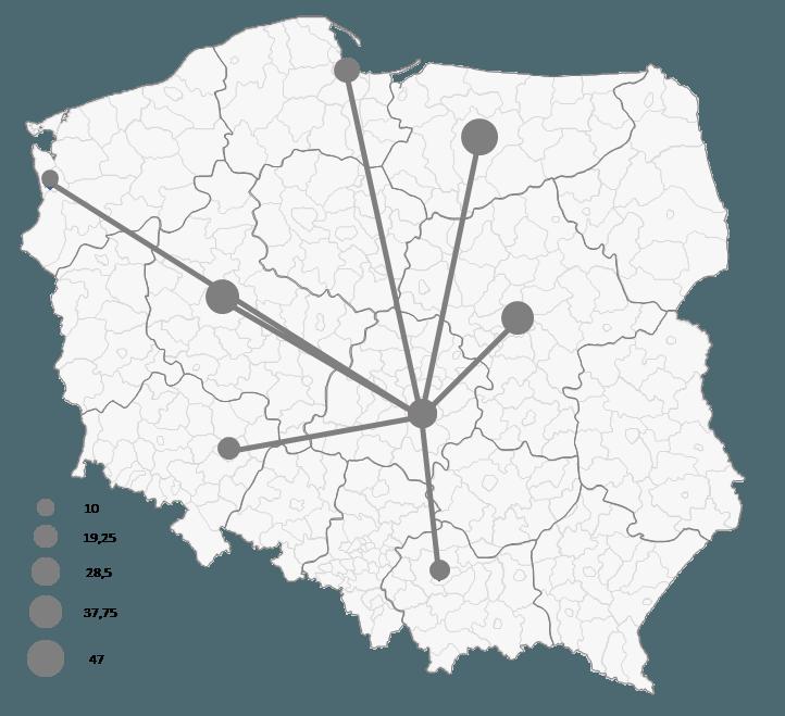 Mapa Polski Excel - Jak zwizualizować namapie przepływ towarów 4