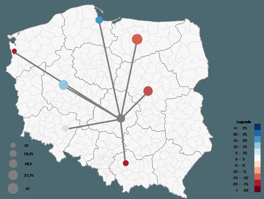 Mapa Polski Excel - Jak zwizualizować namapie przepływ towarów 5