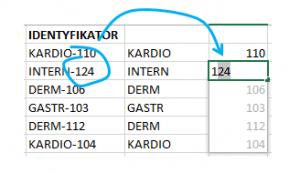 Flash Fill- wypełnianie błyskawiczne wExcel 2013 - Przykład zastosowania Flash Fill - Numer iseria identyfikatora