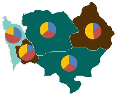Mapa Polski Excel - Jak utworzyć kartodiagram kołowy 5