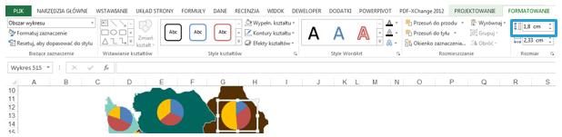 Mapa Polski Excel - Jak utworzyć kartodiagram kołowy 7