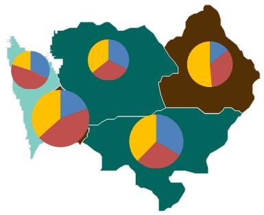 Mapa Polski Excel - Jak utworzyć kartodiagram kołowy 8