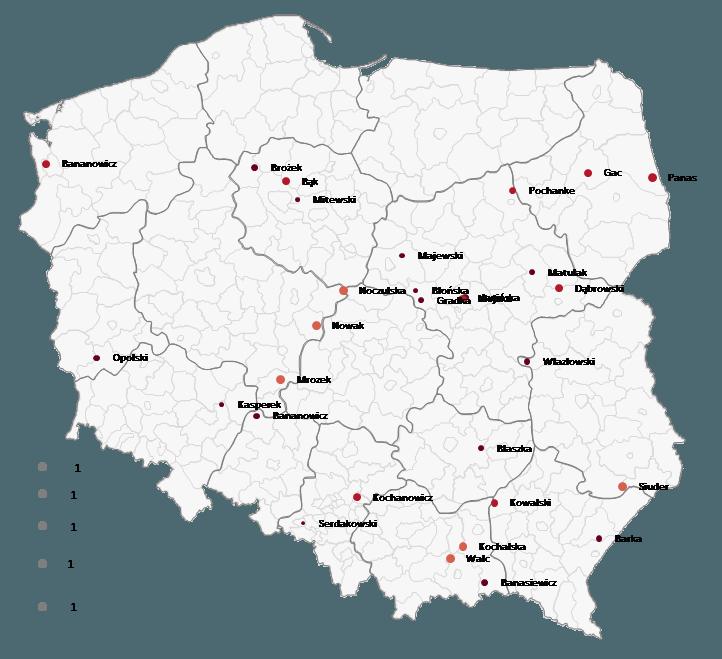 Mapa Polski Excel - Jak wstawić sygnalizację uliczną (czerwony, żółty, zielony) nawykresie bąbelkowym dla pracowników sprzedaży 4