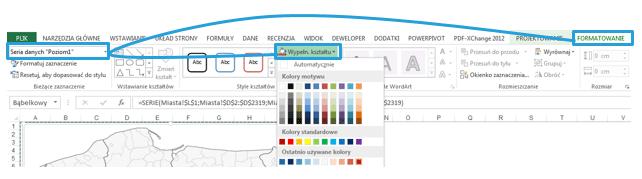 Mapa Polski Excel - Jak wstawić sygnalizację uliczną (czerwony, żółty, zielony) nawykresie bąbelkowym dla pracowników sprzedaży 5