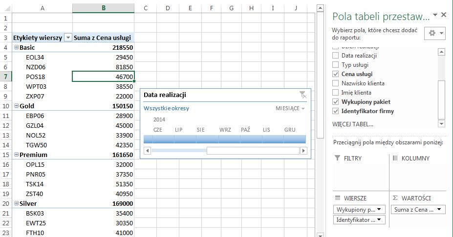 Oś czasu- nowość w Excel 2013 - jak stworzyć oś czasu