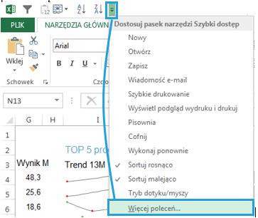 Dashboard menedżerski Excel - aparat fotograficzny 1