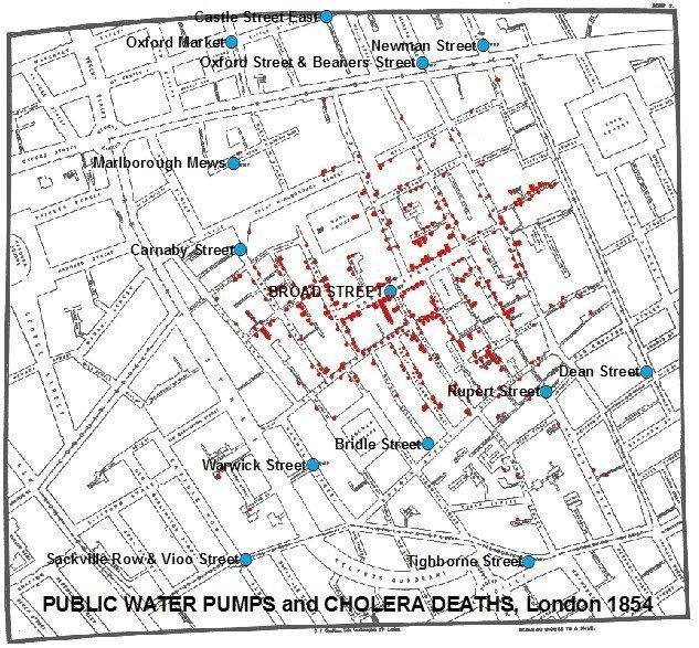 Data storytelling Epidemia Cholery wLondynie