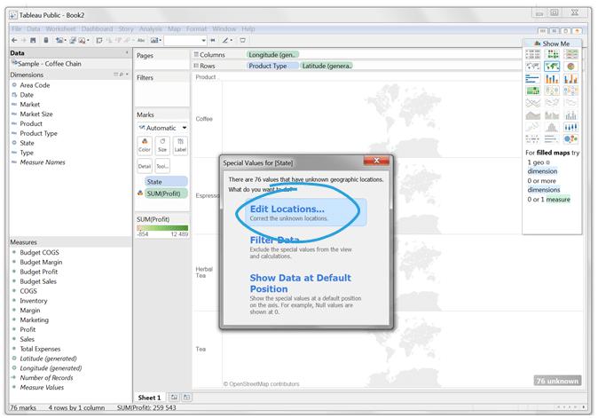 Mapy wTableau – dwa sposoby naefektywne prezentowanie danych_7