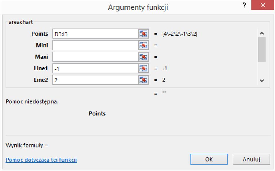 Sparklines for Excel - Wykres warstwowy 3