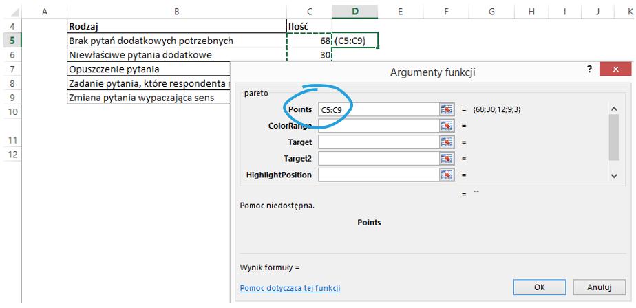 Sparklines for Excel wykres Pareto, kaskadowy, kolumnowy 4