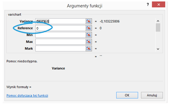 Sparklines for Excel - wykresy porównawcze 16
