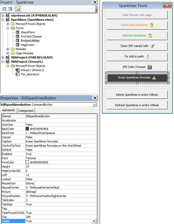 Sparklines for Excel - podsumowanie 3
