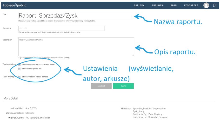 Publikowanie dashboardu nastronie Tableau Public_7