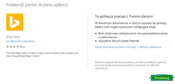 Aplikacje dla Excel 2013_6